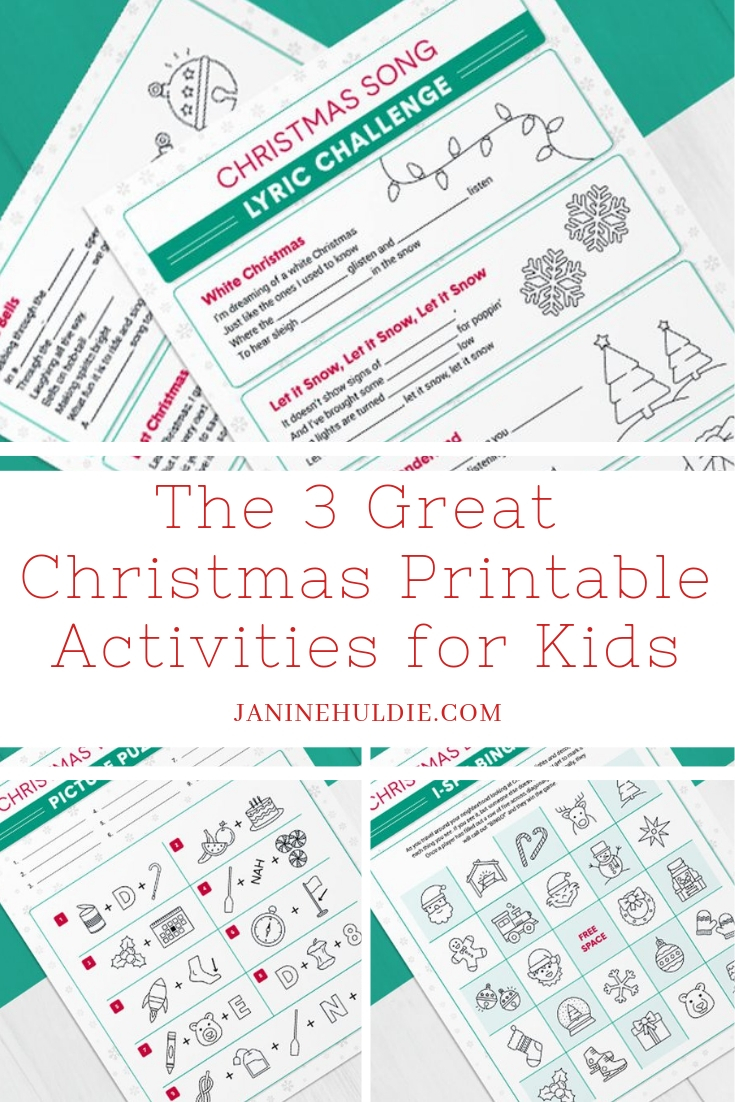 picture about Christmas Caroling Songs Printable named The 3 Fantastic Free of charge Xmas Printable Things to do for All Young children